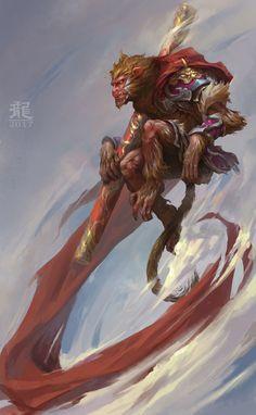 Sun Wukong, Zhilong Li on ArtStation at https://www.artstation.com/artwork/yvky3