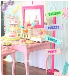 Candyland birthday party! See more party ideas at CatchMyParty.com!