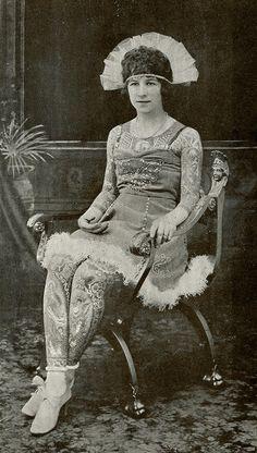 Artoria Gibbons, the Tattooed Lady, circa 1920s.