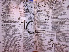 the menu at Serendipity, NYC