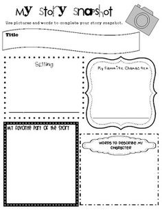 {freebie} Story snapshot graphic organizer