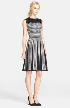 Free shipping and returns on Tory Burch 'Monique' Cotton Sweater Dress at Nordstrom.com. Purl-knit cotton cast in a two-tone pattern refreshes an easy fit-and-flare dress.