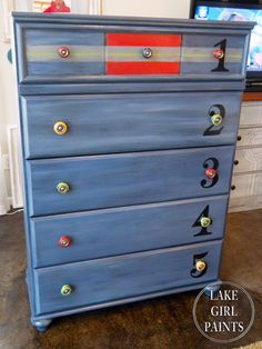 Lake Girl Paints: Chippy Paint on Colorful Dresser Knobs