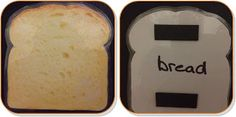 """Bread of Life"" craft idea - have the kids make magnets to put on their fridges with the verse on them"