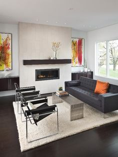 Photo of Black Modern Living Room project in Indianapolis, IN by Adam Gibson Design
