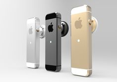 iPhone 5s & 5c Bluetooth Headsets by David Stockton, via Behance