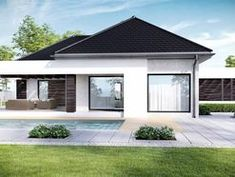 DOM.PL™ - Projekt domu CPT HomeKONCEPT-32 CE - DOM CP1-37 - gotowy koszt budowy House Plans, Garage Doors, Shed, Outdoor Structures, How To Plan, Architecture, Outdoor Decor, Design, Home Decor