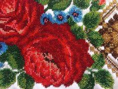 Vyshyvanka-Ukrainian-Hand-Embroidered-Beaded-Womens-Handmade-Folk-New-on-fabric
