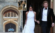 The royal couple, the newly created Duke and Duchess of Sussex, enjoyed a lavish reception at Frogmore House last night, a venue in the grounds of Windsor Castle. Princess Beatrice, Princess Charlotte, Princess Diana, Harry And Meghan Wedding, Prince Harry And Megan, Meghan Markle, Frogmore House, Evening Wedding Receptions, Royal Throne