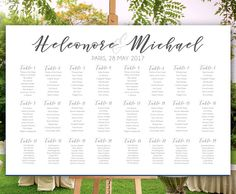 Calligraphy Wedding Seating chart Printable Seating by redlinecs