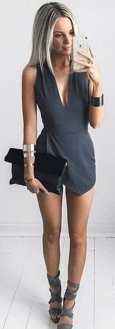 #summer #feminine #outfits | Perfectly Wrapped Romper