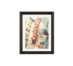 """Broad Shoulders Framed Print By Tracey Capone, 16x20"""", Ridged Distressed Frame, Black, Mat"""