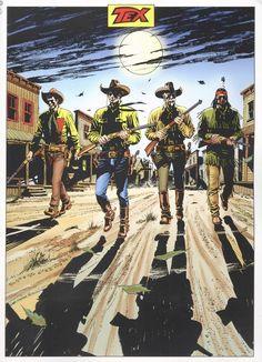 Ilustração original de Claudio Villa para capa de Tex Edição Histórica #91