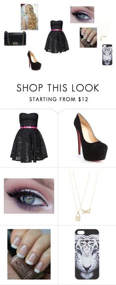 """""""Untitled #163"""" by madisonnetz ❤ liked on Polyvore featuring Club L, Christian Louboutin, dELiA*s, OPI, County Of Milan and Chanel"""