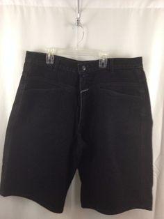 "Marithe Francois Girbaud Black Shuttle Long Jean Shorts Size 38 (measured 37"") #MARITHEFRANCOISGIRBAUD #CasualShorts"