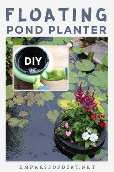 Modern Garden Landscaping Homemade floating pond planters or mini islands are a lovely way to add pops of colourful flowers to your garden pond. Backyard Garden Landscape, Ponds Backyard, Garden Pond, Garden Landscaping, Garden Planters, Herb Garden, Garden Art, Patio Pond, Diy Pond