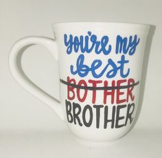 You're my best bother Brother- Father's Day Gift- Gifts for Brothers Brother Gift- Anniversary Gift Birthday Present For Brother, Christmas Gifts For Brother, Bday Gifts For Him, Unique Birthday Gifts, Gifts For Husband, Gifts For Girls, Fathers Day Gifts, Diy Birthday, Diy Brother Gift
