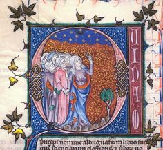 nihtegale:  A woman teaching scholars about the night sky, c.1309-1316