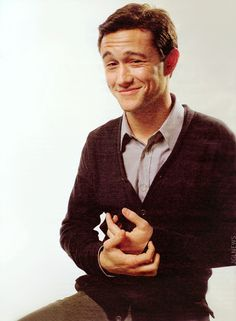 Joseph Gordon-Levitt, I love how like all the pictures of him are of him making a dorky face in a sweater or something.