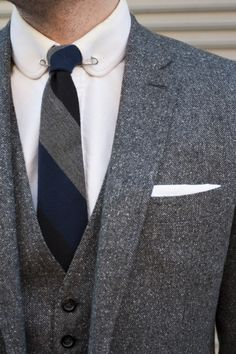 Cloth is so tactile looking- love it with the collar pin