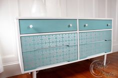 Stenciled Dresser with Chalk Paint® and Royal Stencil Cremes | Project by Finding Silver Pennies