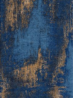 Washed Denim – Copper rug from Bazaar Velvet. An abstract design with a difference. Deep blue contrast with shining coppper silk. Hand Knotted Himalayan Wool and Chinese Silk. Luxury modern rugs London