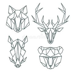 Download African Animal Icons, Vector Icon Set. Abstract Triangular Style Stock Vector - Image: 58722430