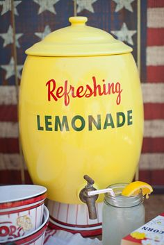 The finishing touch to the 4th of July Party, Archive Vintage Rentals, summer lemonade stand perfection!
