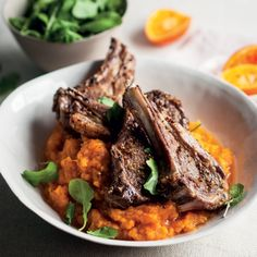 Barbeque-spiced grilled lamb chops with sweet-potato mash | Woolworths TASTE