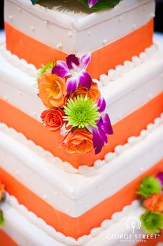 brightly colored cake! Make it yellow for us :) www.georgestreetphoto.com  #dreamwedding