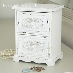 Shabby Chic 2 Drawer Chest.