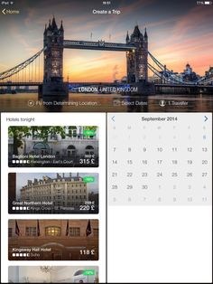 Expedia, date picker, iPad