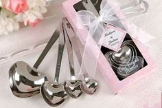 HEART SHAPED MEASURING SPOONS IN GIFT BOX  Makes A Beautiful Gift!  STARTING AT    80% OFF