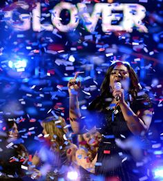 "Candice Glover sings ""I Am Beautiful"" after being announced the winner of American Idol Season 12 on 5/16/13."