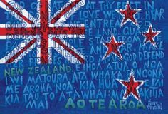 Aotearoa NZ Flag Print by Timo Rannali for Sale - New Zealand Art Prints