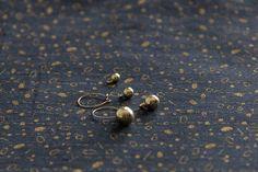 four golden peas, light hoop dangle drop earrings in vintage brass, mywhiteroom