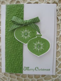 Stampin Up Handmade Greeting Card-Christmas via Etsy