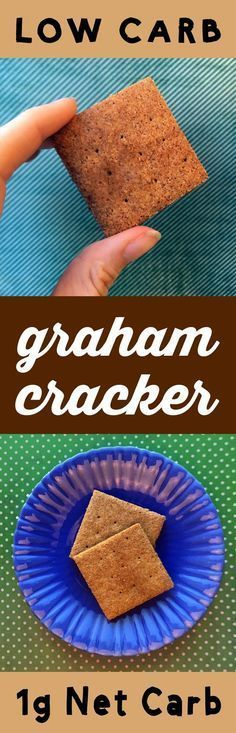 This Low Carb Graham Cracker recipe is Low Carb, Keto, Paleo, THM, Atkins, Banting, LCHF, Sugar Free and Gluten Free. Plus, it's only got 1g net carb per cookie. Nice!