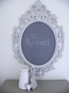 """Chalkboard painted in Autentico paints """"Nearly Black"""" and """"Casa Blanca"""""""