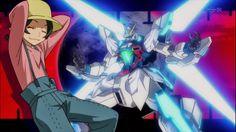 Mao Yasaka with his Gundam X Maoh