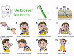 Uns scénario pour se brosser les dents - Cosas Que Hacer Para Una Boca Sana Health Activities, Activities For Kids, Kids Education, Special Education, Sequencing Pictures, Baby Sensory, Dramatic Play, Learn French, Dental Health
