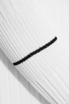 Georgia Alice - Ribbed Stretch-knit Top - White - UK14