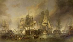 The Battle of Trafalgar - William Clarkson Stansfield