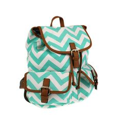 Preppy Monogrammed Canvas Chevron Backpack/ by DesignsbyApril1234, $34.95