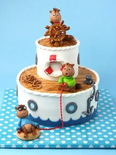 Alvin and the Chipmunks, shipwrecked. By Dutch cake lady Leonietje