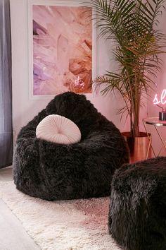 Aspyn Shag Bean Bag Chair | Urban Outfitters