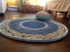For my Reception class mat Crochet Fabric, Fabric Yarn, Crochet Gifts, Knit Crochet, Crochet Stitches Patterns, Crochet Designs, Knit Rug, Rugs And Mats, Crochet Home Decor