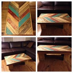 Chevron Pallet Coffee Table http://beachbumlivin pallet wood coffee table!! | wood coffee