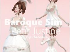 Baroque Sim - Petit Justine (Ts4) ♡ - The Sims 4 Download - Gluppr