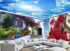 Greek landscape map of the entire room wallpaper wall mural decal IDCQW-000003